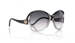 Balenciaga-Two-tone-round-acetate-sunglasses