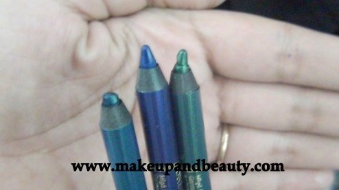Revlon Colorstay One Stroke defining Liner (l-r Totally turquoise, blooming blue, glazed green)
