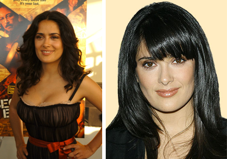 Salma Hayek Haircut