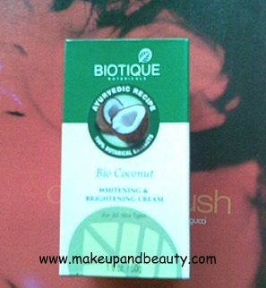 Biotique Coconut Milk Cream review