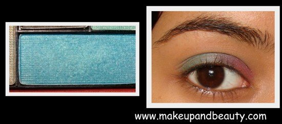 blue eyeshadow makeup. with the pink eyeshadow.