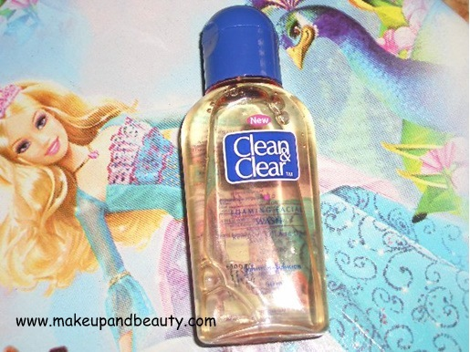 how to open clean and clear face wash