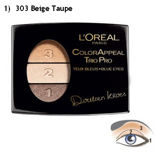 Loreal Eye Shadow Trio Beige taupe