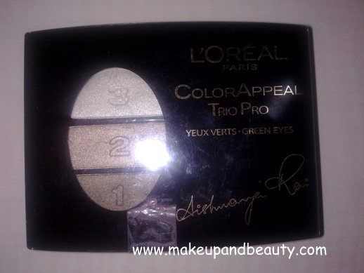 Loreal Eye Shadow Trio Golden Green