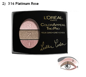 Loreal Eye Shadow Trio Platinum Rose