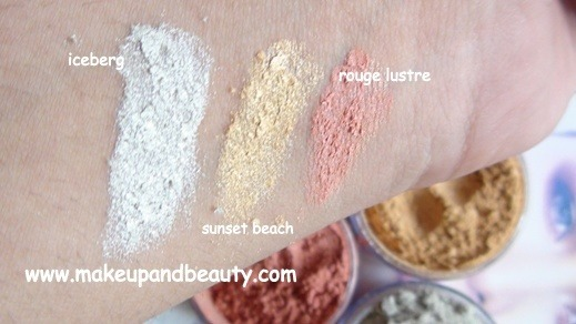 Lotus herbals Transluscent loose Powder swatches