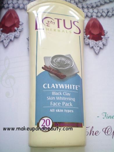 Lotus herbals claywhite