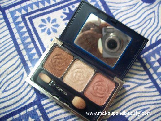 Light pink and dark brown make the perfect natural eye makeup.