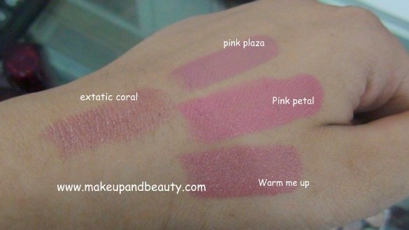 Maybelline Colour Sensational Lipstick Swatches