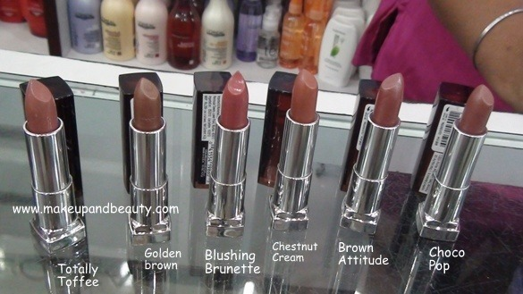 Maybelline Colour Sensational lipstick Brown