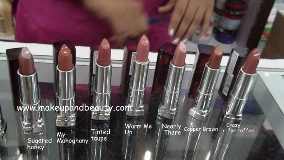 Maybelline Colour Sensational lipstick Browns