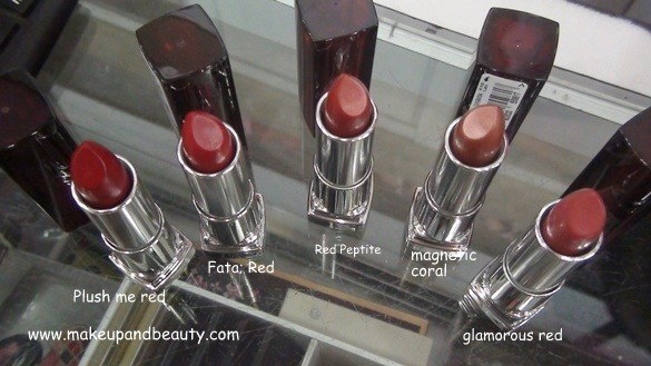 Maybelline Colour Sensational lipstick reds