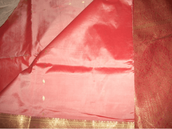 light pink silk saree.