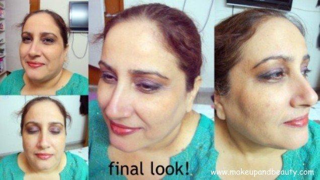 final look- makeup for matured women