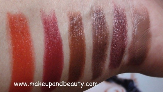 Lotus Floral Glam Lipstick Swatches