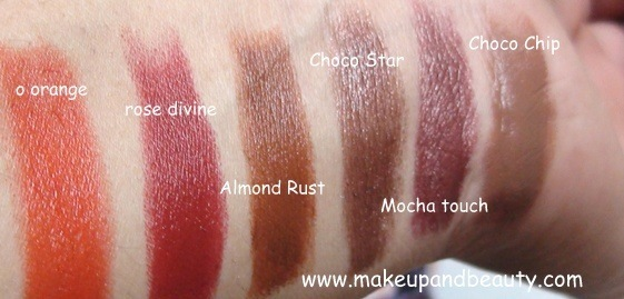 Lotus Herbals Lipstick Swatches