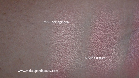 MAC Springsheen vs NARS Orgasm