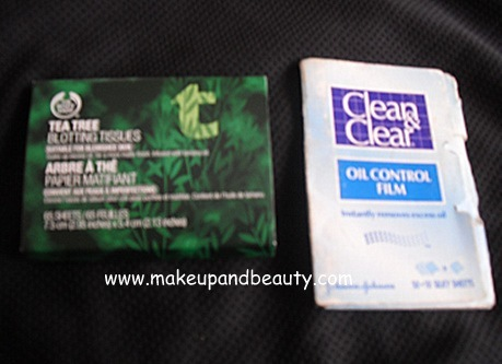 Clean and Clear Oil Control Film vs The Body Shop Tea Tree Blotting Tissues