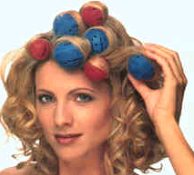 curling hair with foam rollers