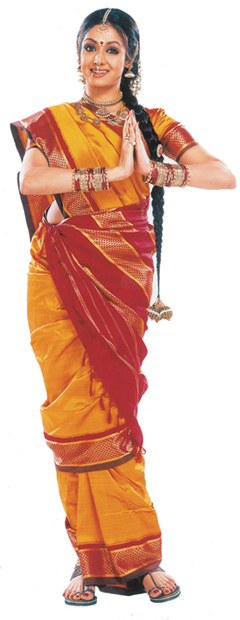 How to drape a saree in Tamilian style