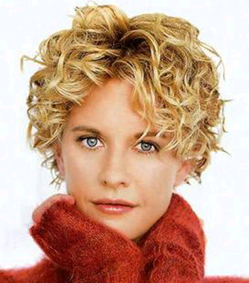 short curly hair style meg ryan
