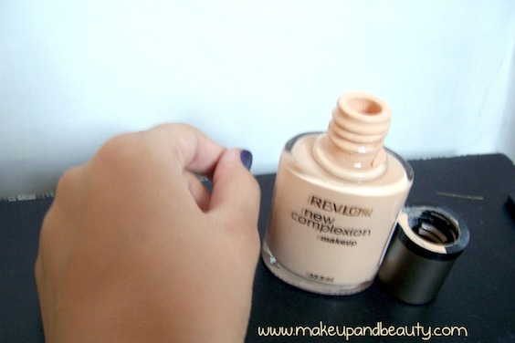 Revlon foundation swatch (blended)
