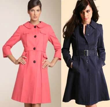 Bracelet sleeves, fitted belted trench