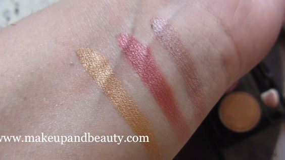 NYX Trio - Golden , Rust, Walnut Bronze swatches