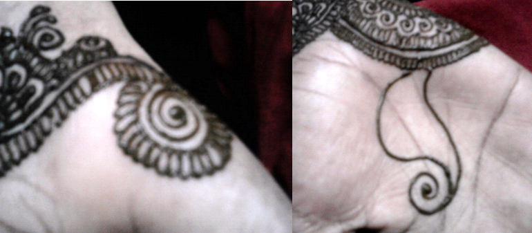 Mehndi Makeup Step By Step : Henna design tutorial for karva chauth
