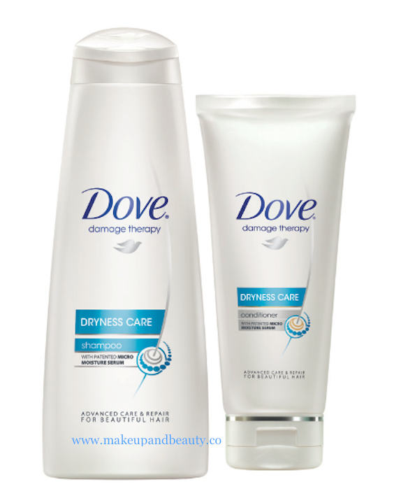 DRYNESS CARE: Dove Dryness Care has been especially formulated to provide soft smooth hair with less fly always