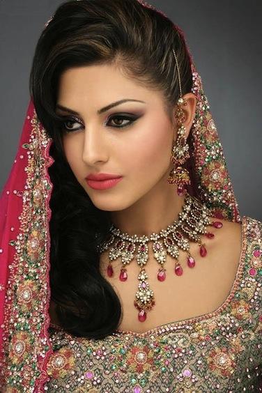 Bridal Makeup Indian. Indian-Bridal-with-Makeup-and-