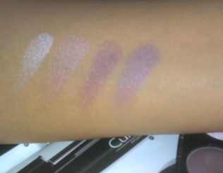 Avon True Color Eyeshadow Quad swatches 2