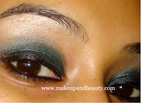 Black Green Eye Makeup Tutorial