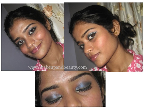 Blue Golden Eye Makeup