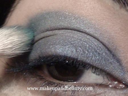 Estee Lauder Blue Dahlia Makeup - crease