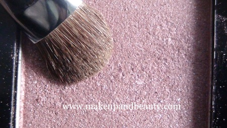 Shimmery pink eye shadow