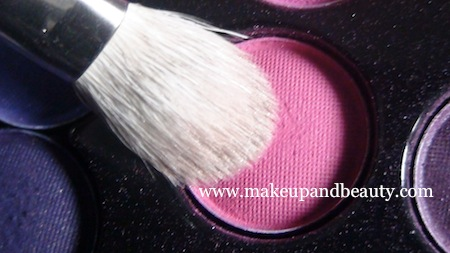 Hot pink eye shadow