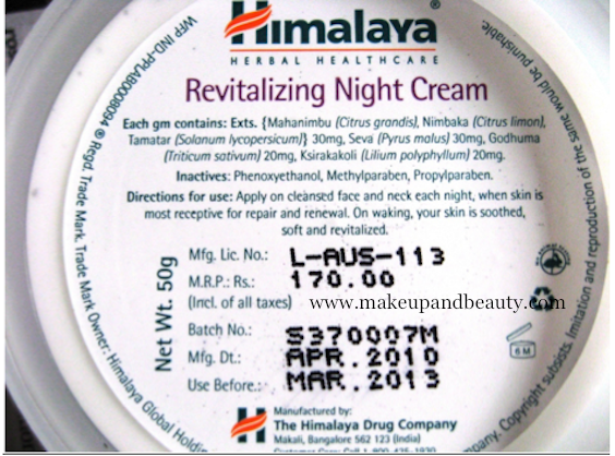 Himalaya Night Cream