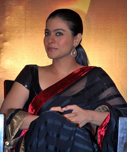 Kajol in velvet blouse