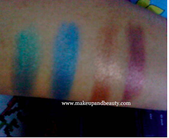 Lakme Peacock Quartet swatches