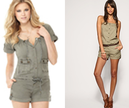 Military rompers from Guess and Vero Moda