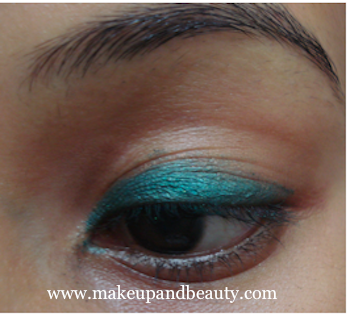 Party Eye Makeup - teal green eye makeup