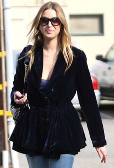 whitney port in velvet jacket