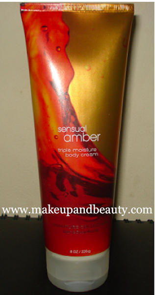 Bath and Body Works Sensual Amber Triple Moisture Body Cream