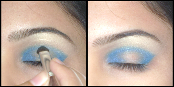 blue eyeshadow makeup. same lue eyeshadow and