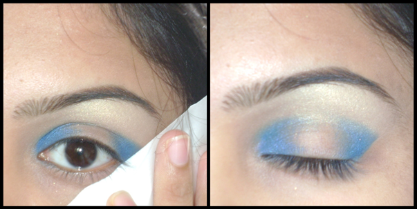 blue eyeshadow makeup. that same lue eyeshadow