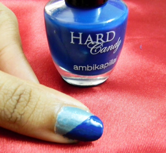 Royal blue nail paint