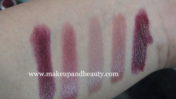 Lakme Lip Love Swatches 2