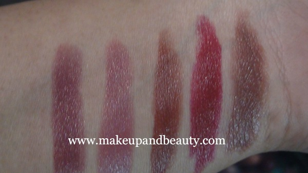 Lakme Lip Love Swatches 4