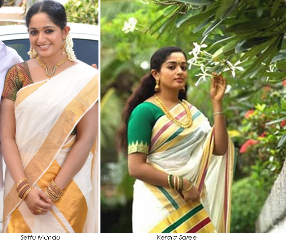 settu mundu and kerala saree